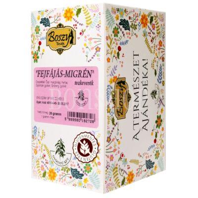 Boszy Fejfájás-migrén filteres tea