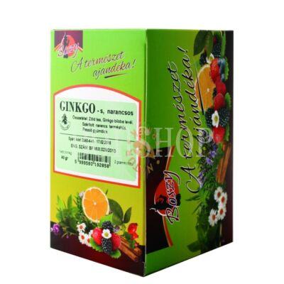 Boszy Ginkgo-Narancs-Zöld tea gyümölcskeverék filteres tea