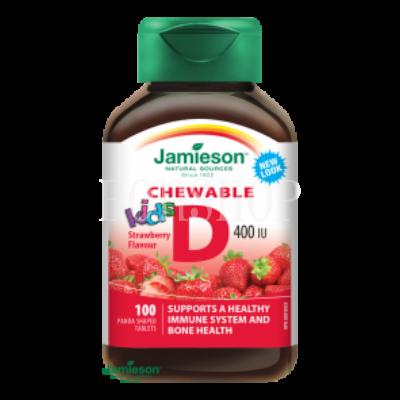 jamieson-d3-vitamin-kids-400-iu-szopogato-tabletta-eper-izesitessel-gyerekeknek
