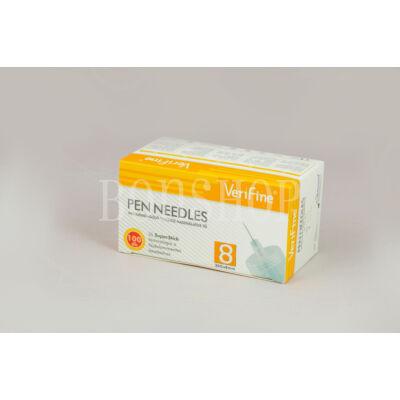 VeriFine Inzulinadagoló tollhoz használatos tű 100db - 30G x 8mm