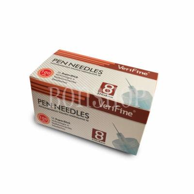 VeriFine Inzulinadagoló tollhoz használatos tű 100db - 32G x 8mm